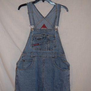 Other - Vintage denim short overalls